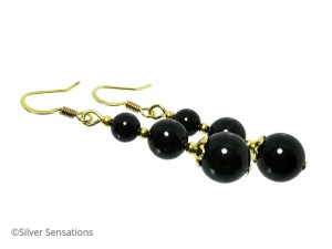 Stunningly glossy Onyx earrings