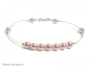 Pink-pearls-wedding-bracelet
