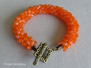 Rainbow-orange-kumihimo-bracelet