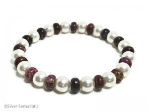 Pearls-jasper-fashion-bracelet