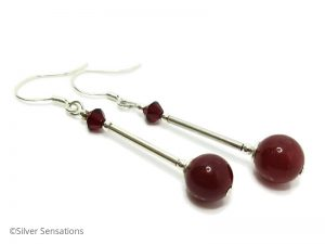 Red-Jade-silver-earrings