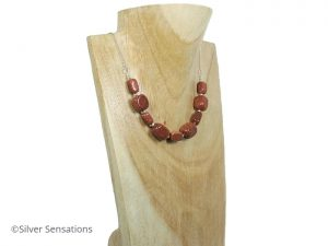Unique-brown-goldstone-necklace
