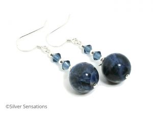 Chunky-blue-sodalite-crystals-earrings
