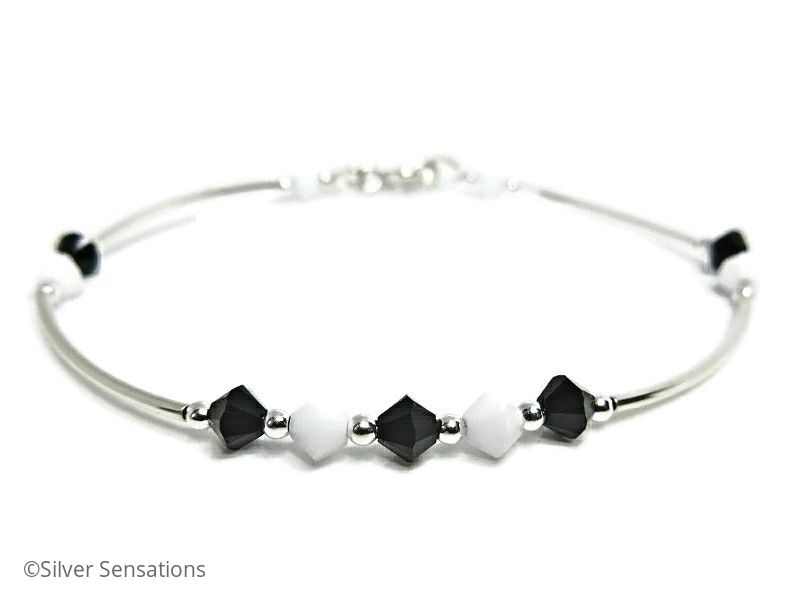 charm bangle silver bracelets black ani alex initial bangles finish and rafaelian bracelet k