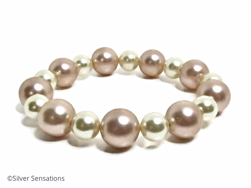 a peachlilacwhite lilac baroque white with silver bracelet sterling pearls pearl peach clasp hallmarked classic product