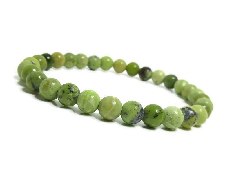 Shades of Green Chrysotine Jasper Beaded Bracelet